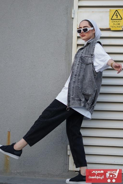 تصویر جلیقه زنانه اسپرت برند modaalone رنگ نقره ای کد ty102999351