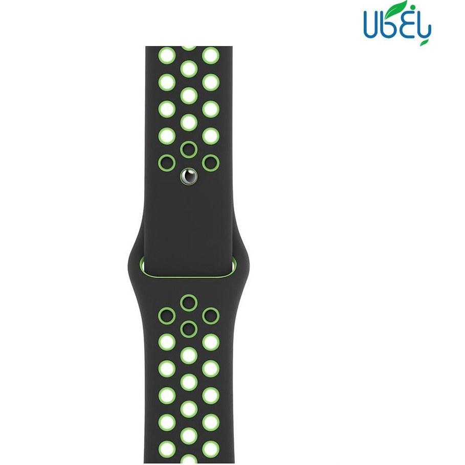 تصویر بند سیلیکونی طرح نایک ساعت هوشمند مناسب اپل واچ ۳۸-۴۰ میلیمتری Nike Silicone Band for Apple Watch 38-40mm
