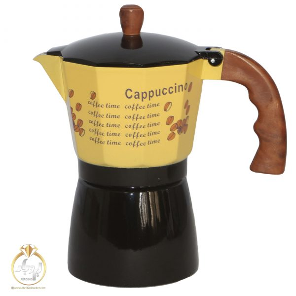تصویر قهوه جوش اسپرسو ساز آلومینیومی 6 کاپ
