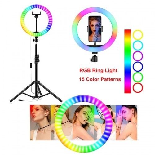 تصویر رینگ لایت حرفه ای RGB LED SOFT RING LIGHT MJ26 ا RGB LED SOFT RING LIGHT MJ26 RGB LED SOFT RING LIGHT MJ26