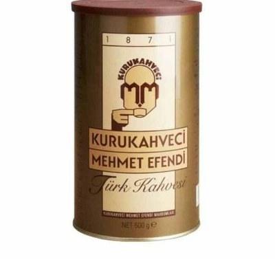 تصویر قهوه ترک مهمت افندی قوطی 500گرمی وزن قوطی 500گرم میباشد. طعم خاص و کلاسیک قهوه ترک اصل، با طعم و کف خامه ایی زیاد تهیه شده از بهترین دانه های قهوه عربیکا، توسط یکی از بهترین و قدیمی ترین برندهای مشهور در این عرصه ساخت ترکیه
