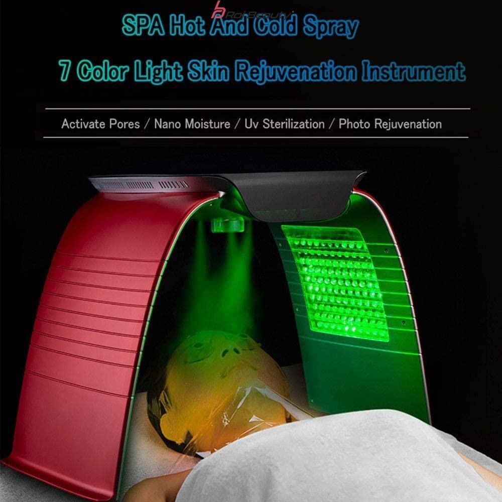 تصویر ماسک تونلی ال ای دی 7 رنگ با اسپری گرم و سرد بخار دارانزوایتالی  enzo Italy2021