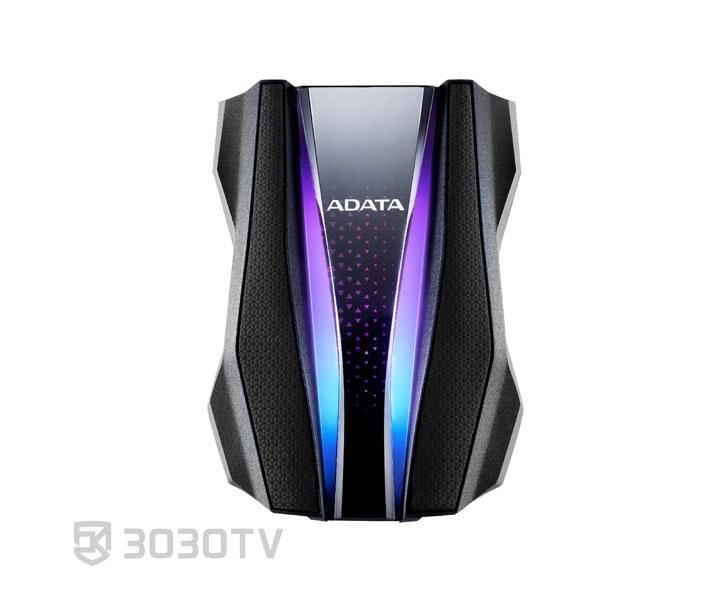 تصویر هارد اکسترنال RGB ای دیتا مدل HD770G ظرفیت 2 ترابایت ADATA HD770G RGB External Hard Drive - 2TB