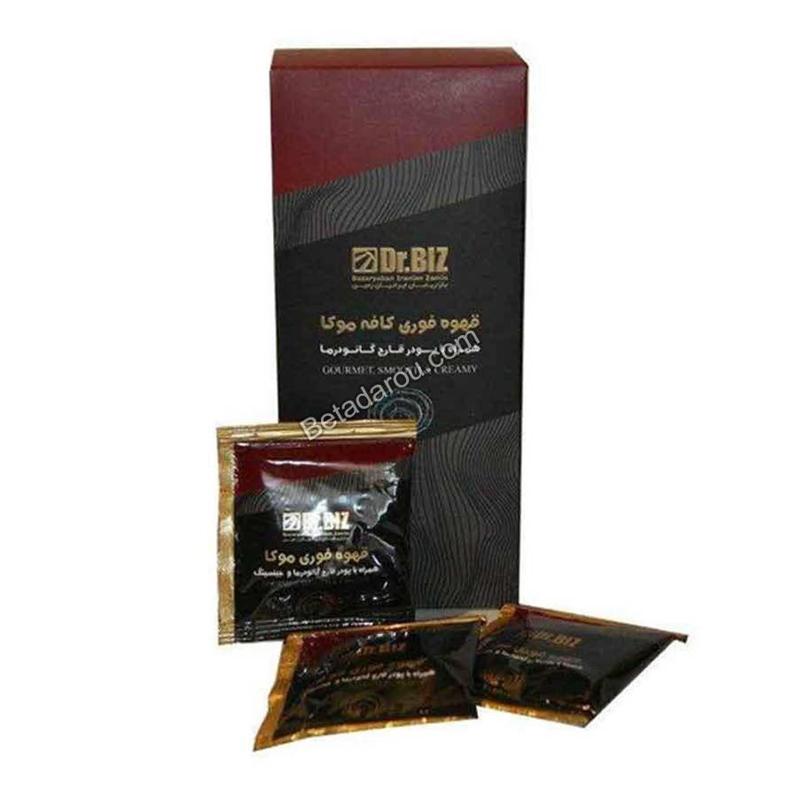 تصویر قهوه فوری دکتر بیز مدل کافه موکا به همراه عصاره قارچ گانودرما ۴۰۰ گرمی Dr Biz Café Mocca Plus Ganoderma 400gr