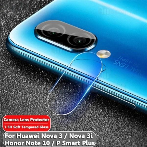محافظ لنز دوربین شیشه ای موبایل مناسب Huawei Nova 3i / P Smart Plus