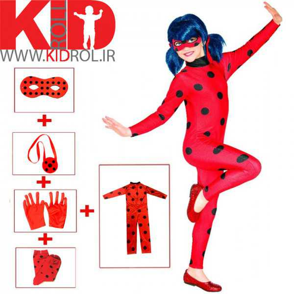 لباس دختر کفشدوزکی (10 تا 12 سال)