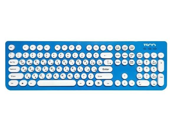 تصویر کیبورد بی سیم تسکو مدل TSCO KEYBOARD TK 7001W TSCO TK 7001W Keyboard