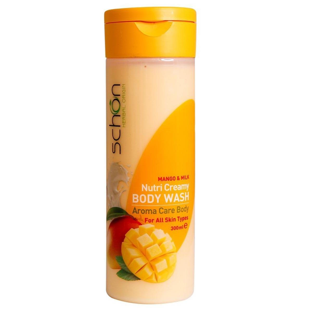 تصویر شامپو بدن شیر انبه شون حجم 300 میل Schon Nutri Creamy Mango and Milk Body Wash
