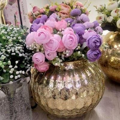 تصویر کد6-102   گلدان لوکس طلایی بسیار شیک
