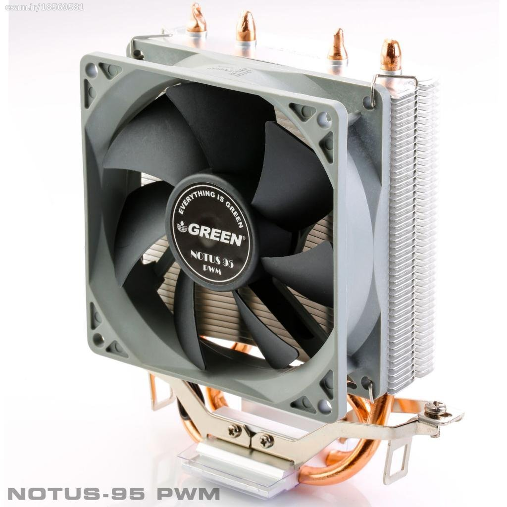 تصویر خنک کننده پردازنده گرین NOTUS 95-PWM GREEN NOTUS 95-PWM CPU Cooler