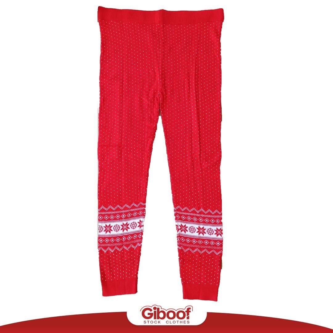 تصویر لگ توکرکی ضخیم زنانه برند اسمارا _ طرح کریسمس _ رنگ قرمز