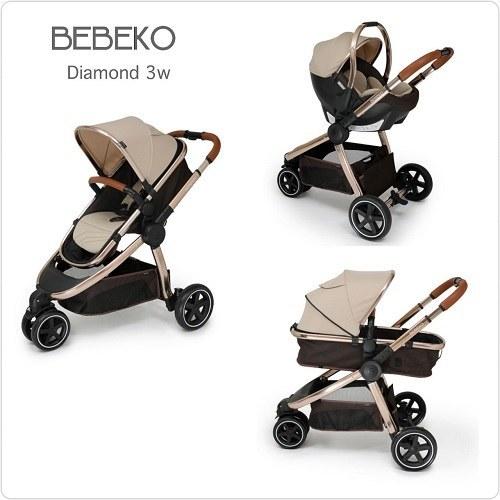 سرویس کالسکه ببکو bebeko مدل Diamond – سه چرخ