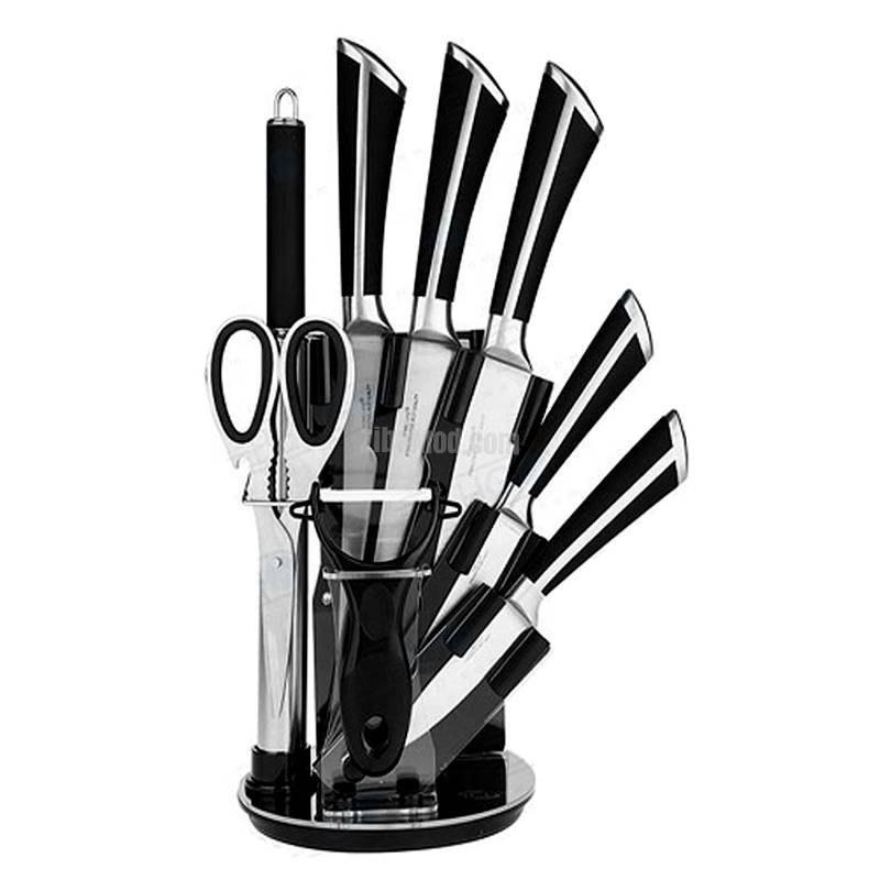 تصویر ست چاقو،کارد و ساطور آشپزخانه یونیک Unique 9PCS KNIFE SET