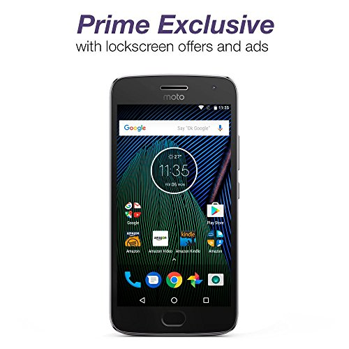 | Moto G Plus (5th Generation) - Lunar Gray - 32 GB - Unlocked - Prime Exclusive - with Lockscreen Offers & Ads