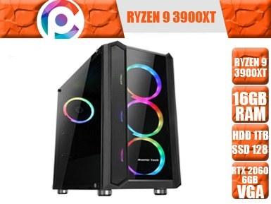 تصویر کامپیوتر گیمینگ و طراحی مهندسی Ryzen 9 3900XT