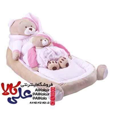 تصویر سرویس خواب و تشک لبه دار 3 تیکه نوزاد طرح خرس