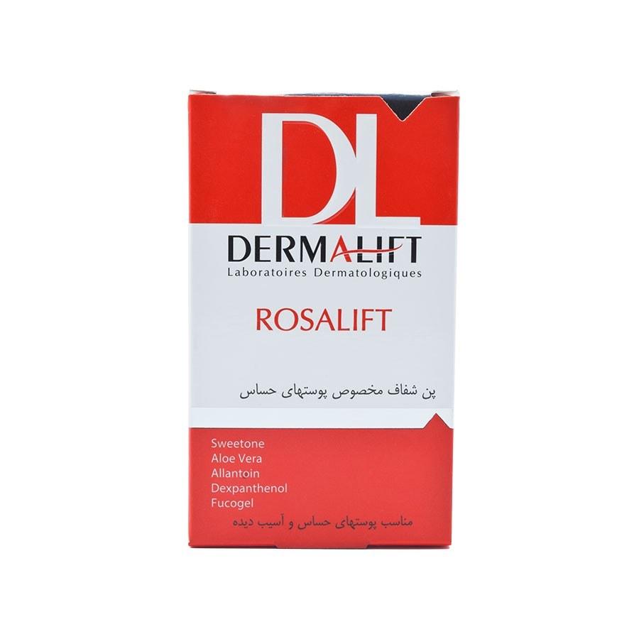 تصویر پن شفاف درمالیفت سری رزالیفت مناسب پوست حساس وزن 100 گرم Derma Lift Series Rosa Lift For Sensitive Skin 100 gr
