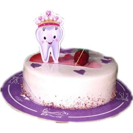 تصویر شمع تولد تم دندونی
