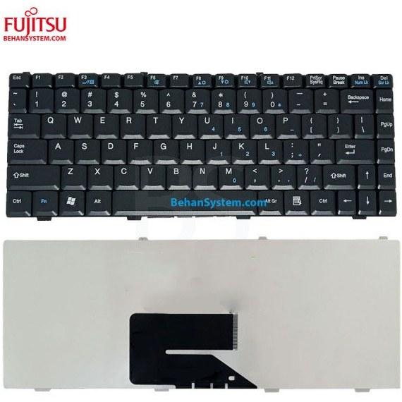 تصویر کیبورد لپ تاپ Fujitsu Siemens مدل AMILO Pro V2030 به همراه لیبل کیبورد فارسی جدا گانه