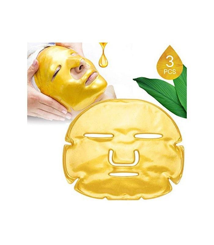 عکس ماسک ورقه ای طلا و کلاژن گلد صورت مرطوب کننده و ترمیم عمیق پوست Collagen gold Facial Mask  ماسک-ورقه-ای-طلا-و-کلاژن-گلد-صورت-مرطوب-کننده-و-ترمیم-عمیق-پوست-collagen-gold-facial-mask