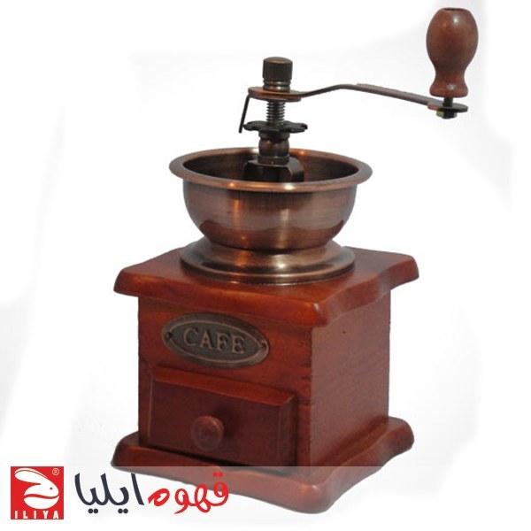تصویر آسیاب قهوه دستی چوبی