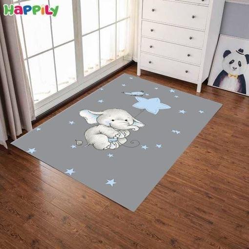 تصویر فرش اتاق کودک طرح elephant فیل 52402