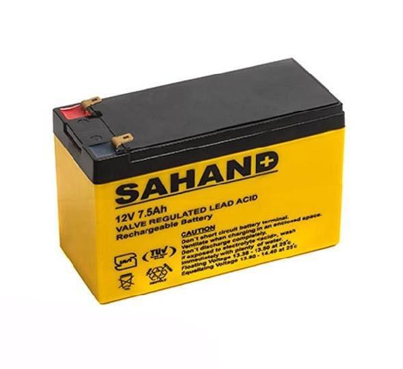 تصویر باتری یو پی اس سهند ۱۲ ولت ۷٫۵ آمپر ساعت
