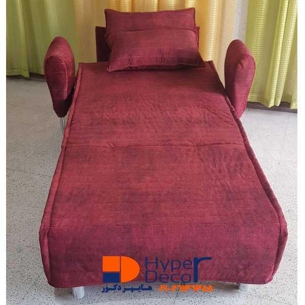 تصویر مبل تخت خواب شو یک نفره ساپنا جدید