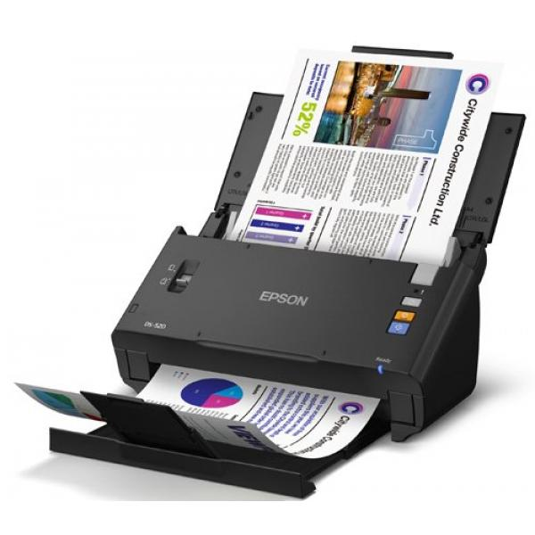 تصویر اسکنر اسناد اپسون مدل WorkForce DS-520 EPSON WorkForce DS-520 Color Document Scanner