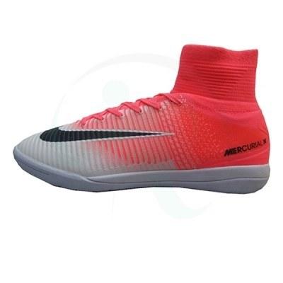 کفش فوتسال نایک مرکوریال طرح اصلی صورتی سفید Nike Mercurial