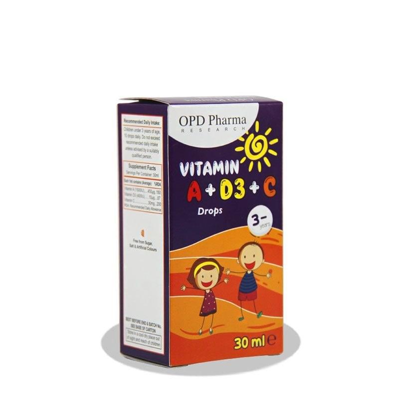 قطره ویتامین آ + د3 + ث