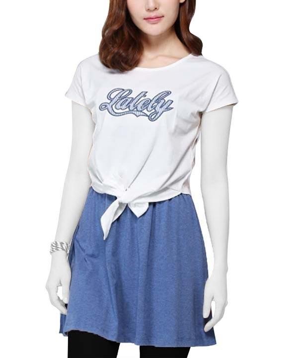 تی شرت و دامن زنانه جین وست