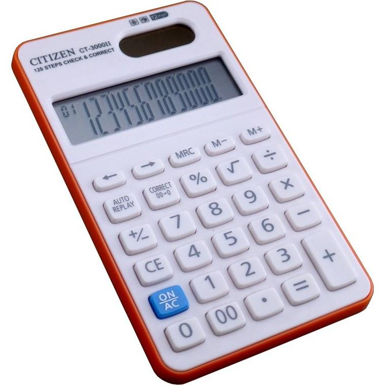 تصویر ماشین حساب سیتیزن مدل CT-3000II