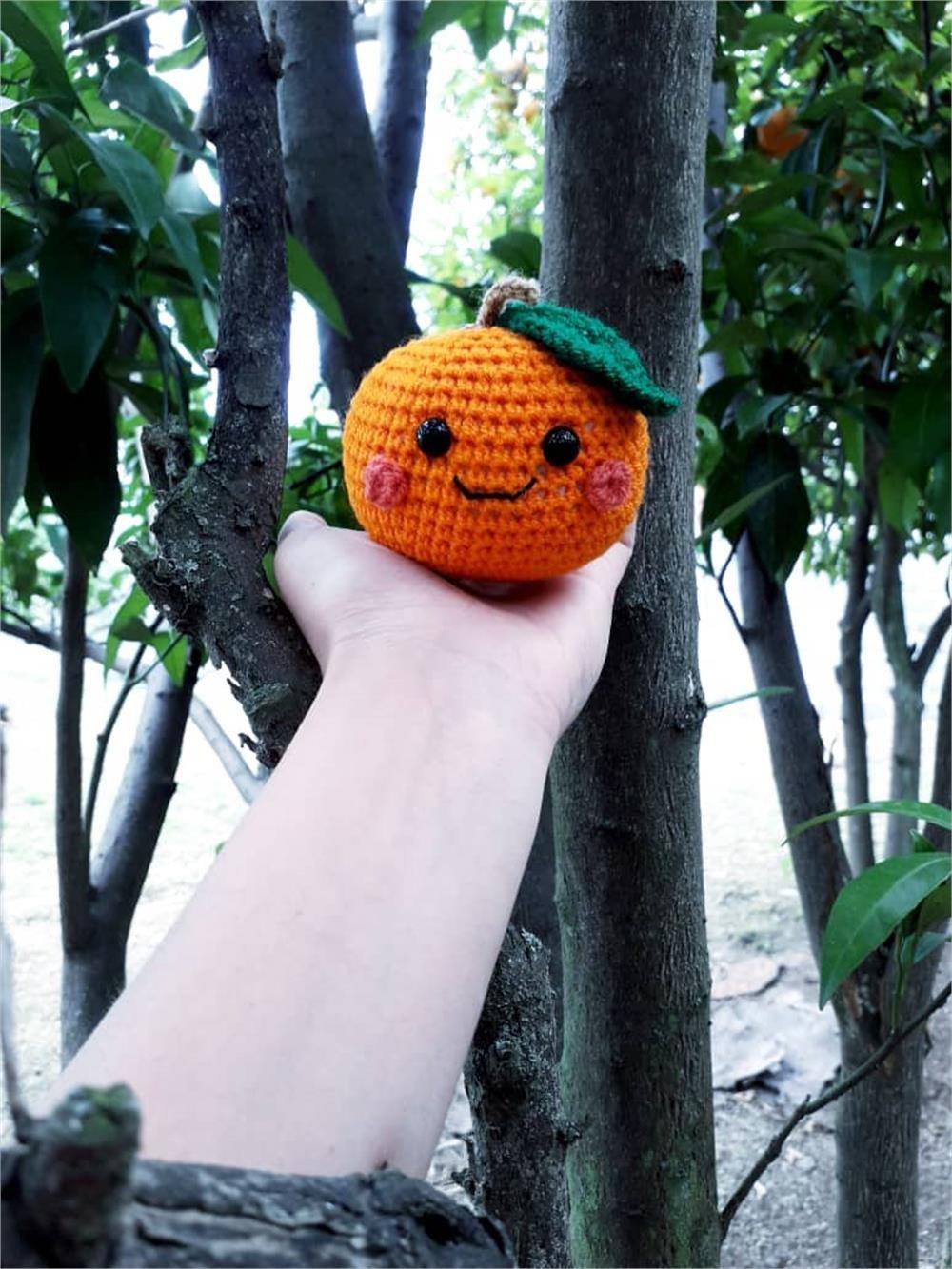 تصویر پرتقال فانتزی بافتنی دستساز Handmade knitted fancy oranges