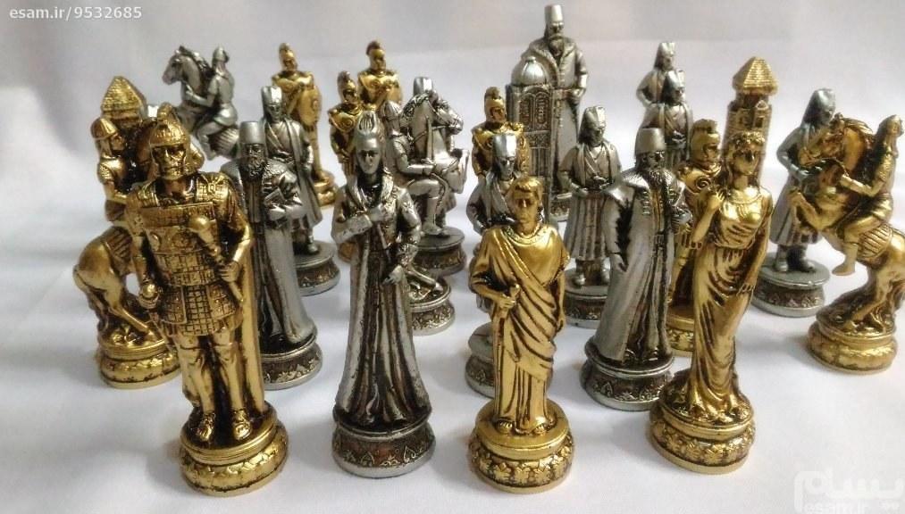 مهره شطرنج درجه یک | مهره شطرنج درجه یک رنگ  طلایی  و نقره ای
