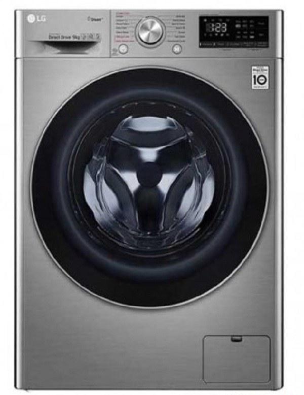تصویر ماشین لباسشویی 9 کیلویی ال جی مدل F4V5VYP0W / F4V5VYP2T LG F4V5 / V5 Washing Machine 9Kg
