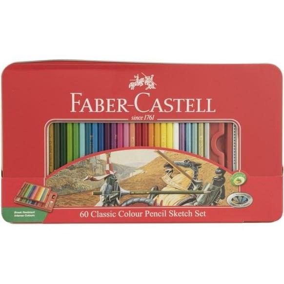 مداد رنگی 60 رنگ فابر-کاستل مدل Sketch Faber-Castell 60 Sketch Color Pencils  