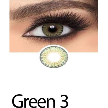 تصویر لنز رنگی چشم لاکی لوک سبز خاکستری مدل Green 3