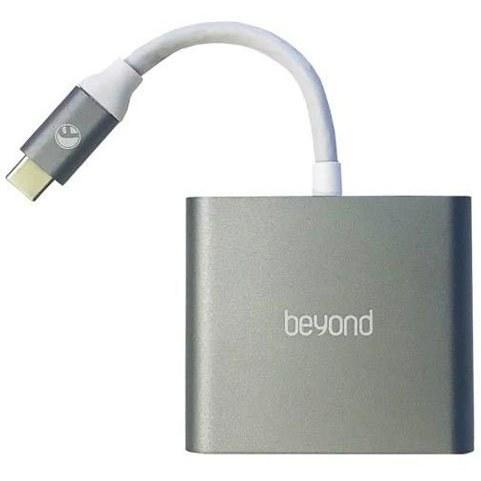 تصویر تبدیل Type-c به HDMI و USB 3.0 و Type-c بیاند مدل BA-410