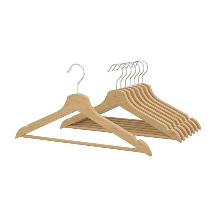 تصویر چوب لباسی ایکیا بسته 8 عددی