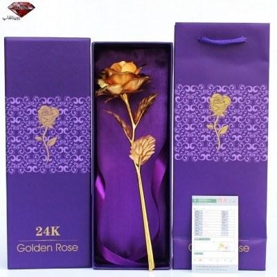 گل رز طلا 24K جعبه دار |