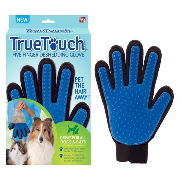 دستکش ماساژ و مو جمع کن سگ و گربه