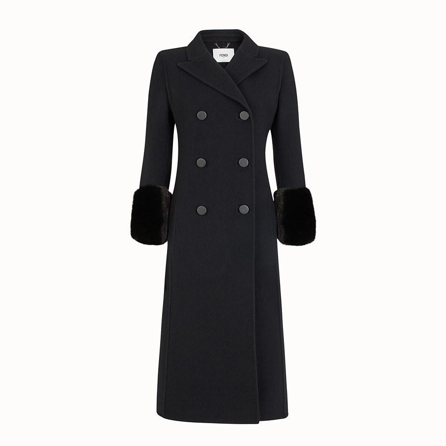 زنانه - پالتو زنانه فندی (ایتالیا) Mantel aus Wolle in Schwarz