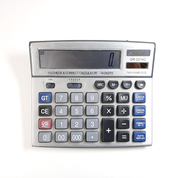 تصویر ماشین حساب CASIO مدل DR-2214C