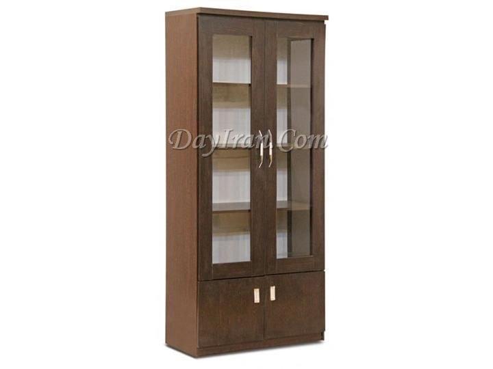 عکس کتابخانه چوبی قابدار ۴ درب  کتابخانه-چوبی-قابدار-4-درب