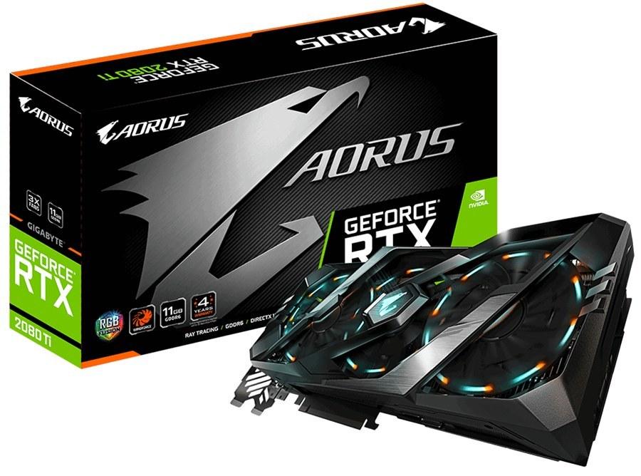 کارت گرافیک گیگابایت مدل AORUS GeForce RTX ۲۰۸۰ Ti با حافظه ۱۱ گیگابایت