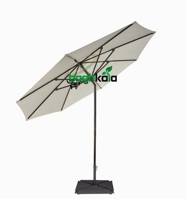 تصویر سایبان چتری آلومینیومی مفصلی هشت ضلعی قطر 3 متر