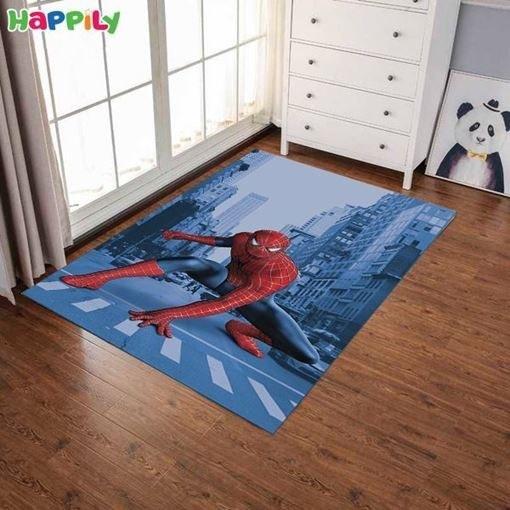 تصویر فرش اتاق کودک طرح spiderman اسپایدرمن 52407