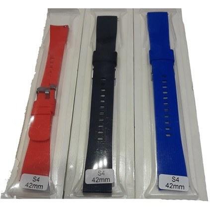 تصویر بند سیلیکون مدل شیاردار مناسب ساعت هوشمند سامسونگ GALAXY WATCH 42MM R810 Striped Silicon Straps For Samsung Smart Watch Galaxy Watch 42mm R810