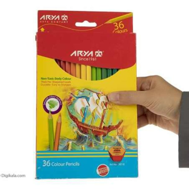 تصویر مداد رنگی 36 رنگ آریا مدل 3018 ا Arya 3018 36 Color Pencil Arya 3018 36 Color Pencil